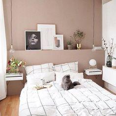 Home Interior Apartment .Home Interior Apartment Dusty Pink Bedroom, Pink Bedroom Walls, Pink Bedrooms, Home Bedroom, Bedroom Decor, Pink Walls, Bedroom Ideas, New Room, Cheap Home Decor