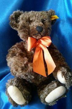 """Steiff-Jointed Brown Mohair 13""""Teddy Bear Four Seasons-Fall 665677 w/Growler #All"""
