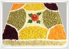 Um blog sobre confecção de bolos artísticos, doces finos e salgados para festas Salad Design, Food Design, Sandwich Cake, Tea Sandwiches, Crudite, Antipasto, Mini Pizzas, Iran Food, Food Garnishes
