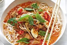 Treat your family to authentic asian flavours with this soul warming chicken laksa.