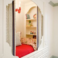 kid area? reading nook for kid wannabes? small meditation station? several possibilities