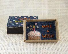 Happy Birthday Card Matchbox Make a Wish Card Small Tiny