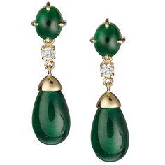 SAZINGG Emerald Earrings #sazingg #emerald #earrings