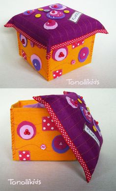 felt box - really no end to these awesome ideas!
