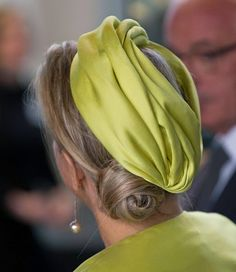 Queen Maxima's hat detail as she attends the opening of the new Micropia Museum, 30.09.2014 in Amsterdam, The Netherlands.