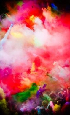 colour cloud.  Holi colored powders, take photos or make canvases with kids