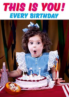 This is you every Birthday Card dimensions: in a cellobag with envelope. Thank You Messages For Birthday, Birthday Thanks, Birthday Wishes Quotes, Happy Birthday Funny, Happy Birthday Greetings, Funny Birthday Cards, 40th Birthday, First Birthday Pictures, Birthday Images
