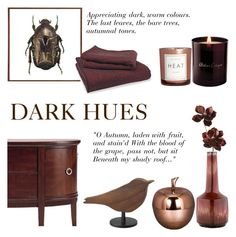 """Dark Hues"" by c-silla ❤ liked on Polyvore featuring interior, interiors, interior design, casa, home decor, interior decorating, IDEA International, Liljebergs, Atelier Cologne e H&M"