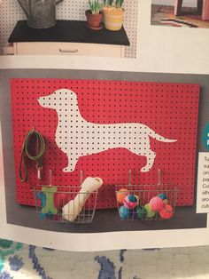 How cute is this pegboard found in HGTV magazine October 2015