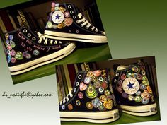 madetoorder hand painted Converse Murano by artwearbynanette