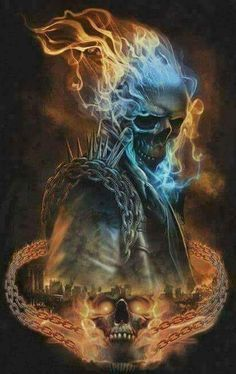 The riders hungry now Ghost Rider Wallpaper, Skull Wallpaper, Dark Fantasy Art, Dark Art, Ghost Rider Tattoo, Ghost Raider, Arte Yin Yang, Badass Skulls, Ghost Rider