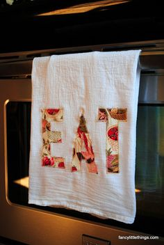 DIY Appliqued Tea Towel « Diy Projects « FancyLittleThings.com