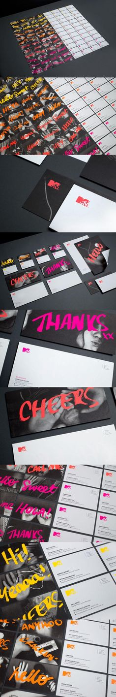MTV – Corporate Stationery Design by Motherbird
