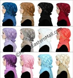 Wholesale Salma lot of 12 Lace Hat Lace Under Scarf Hijab Cap Islamic beanie Hat