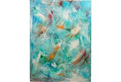 Abstract Acrylic Painting on OneKingsLane.com