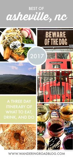 A three-day itinerary of what to eat, drink, and do in Asheville, North Carolina in that doesn't include the Biltmore. Asheville Camping, Asheville Restaurants, West Asheville, Camping In North Carolina, Western North Carolina, North Carolina Mountains, Ashville North Carolina, Ashville Nc, Nc Mountains