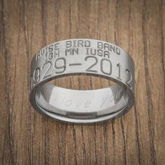 Custom Silver Duck Band Wedding Ring Set His Hers Rings Handstamped