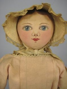 """Sold as 91: 13"""" REPRODUCTION COLUMBIAN DOLL : Lot 91 -----> but this is a MAGGIE BESSIE doll by Pfohl sisters."""