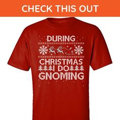 During Christmas I Do Gnoming Hobbies Ugly Sweater - Adult Shirt M Red - Holiday and seasonal shirts (*Amazon Partner-Link)