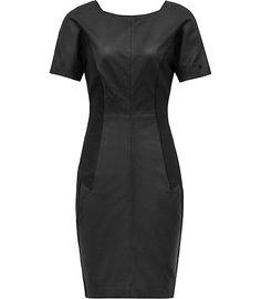 Reiss | Leather Dress | #leatherweather