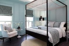 Love the duck egg blue and bed