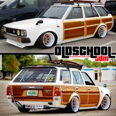 A photoshop rendition of my Corolla Wagon project Nissan Silvia, Classic Japanese Cars, Classic Cars, Toyota Cars, Toyota Supra, Corolla Wagon, Toyota Corolla, Corolla Ke70, Volkswagen