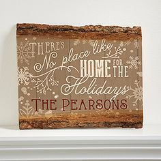 "LOVE LOVE LOVE this Personalized ""There's No Place Like Home For The Holidays"" Christmas Wood Sign! Great gift idea!!!"