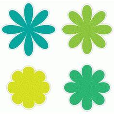 Silhouette Design Store - View Design #52889: 8-petal flowers