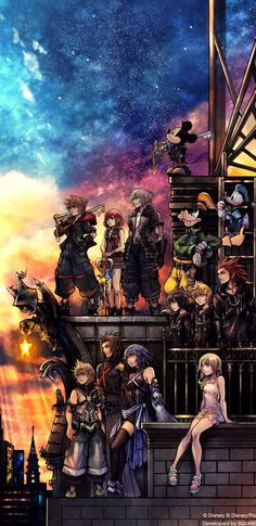 Kingdom Hearts III Wallpaper is available for your favorite device. This set is based on the official cover art for the video game. Kingdom Hearts Wallpaper Iphone, Heart Wallpaper, Hd Wallpaper, Iphone Wallpaper Nerdy, Kingdom Hearts Fanart, Kingdom Hearts Tattoo, Kingdom Hearts Crossover, Kairi Kingdom Hearts, Kingdom Hearts Funny