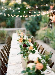 Outdoor Wedding Table Decor | To see the wedding on #SMP, click here -  http://www.StyleMePretty.com/2014/01/03/mt-hood-national-forest-wedding/ Mi Amore Foto