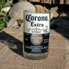Corona Extra 18 ounce Drinking Glass made from an upcycled beer bottle by pic76, $15.00