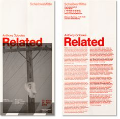 """""""This corporate identity was made for the Berlin gallery Scheibler Mitte. There were red signal lines at the entrance with the words 'max. Taking this as inspiration we dev Magazine Layout Design, Magazine Cover Design, Book Design Layout, Page Design, Collateral Design, Stationery Design, Editorial Layout, Editorial Design, Essay Layout"""