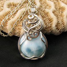 Larimar Jewelry  Genuine Larimar Necklace   Larimar  by StoneNest, $60.00