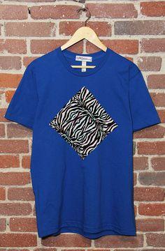 only one dead stock zebra print tee left. on sale at etsy! Printed Tees, Zebra Print, Blog, Mens Tops, T Shirt, Etsy, Fashion, Supreme T Shirt, Moda