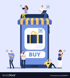 People using smartphone for mobile shopping men Vector Image Smartphone Store, Food Poster Design, Man Vector, Super Hero Outfits, Online Logo, Mobile Shop, Yoga Poses For Beginners, Creative Advertising, Flat Illustration