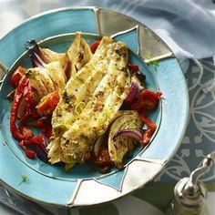 Gemarineerde vis met venkel uit de oven
