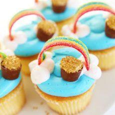 Rainbow Cupcakes {St Patrick's Day}