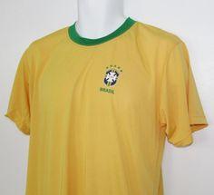 Men Official CBF Brasil Brazil Soccer Fotbol Jersey Shirt sz Medium NWT NEW #Brazil Jersey Shirt, Polo Shirt, Men's Clothing, Brazil, Polo Ralph Lauren, Soccer, Medium, Mens Tops, Shirts