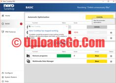 Nero TuneItUp Pro Crack 2016 Serial Key Free Download
