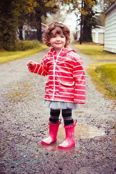 Toddler Rain Boots , Raincoat , Pink , Harper-Mason Photography , Lifestyle, 2 year old.