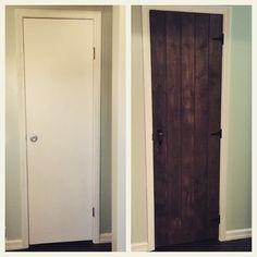 closet / pantry door make over #diy #plank barn door #rustic