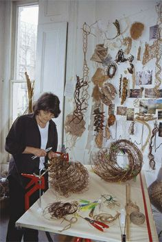 IN THE STUDIO: SHUNA RENDEL Contemporary Baskets, Contemporary Artists, Soft Sculpture, Abstract Sculpture, Process Art, Creative Studio, Art Studios, Textiles, Creative Inspiration