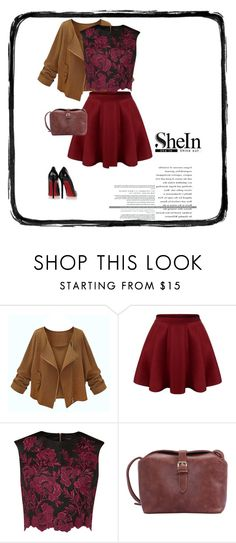 """""""SheIn"""" by alien-official ❤ liked on Polyvore featuring Ted Baker, Christian Louboutin, women's clothing, women's fashion, women, female, woman, misses and juniors"""