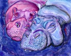 Hippo  Love by Pet Art Melinda