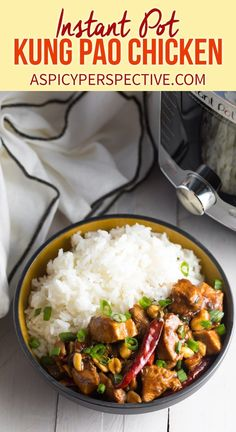 The BEST Instant Pot Kung Pao Chicken Recipe! The sauce offers the perfect punch of heat. Huge flavor happens in minutes in an electric pressure cooker! Best Instant Pot Kung Pao Chicken (Video) - A Spicy Per Best Electric Pressure Cooker, Instant Pot Pressure Cooker, Pressure Cooker Recipes, Electric Cooker, Asian Recipes, Healthy Recipes, Ethnic Recipes, Best Chinese Recipes, Instant Pot Dinner Recipes