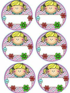 Badges for Kindergarten Children - Preschool Children Akctivitiys Class Decoration, School Decorations, Classroom Labels, Classroom Decor, Pre School, School Days, School Border, School Frame, School Labels