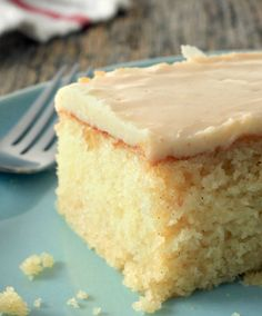 Our vanilla cake with vanilla bean brown butter glaze puts all the chatter of vanilla being 'simple' to rest. This recipe is moist, tantalizing and will actually make your toes tingle a little—of course, that's because we used vanilla bean paste.