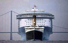 Titanic compared to modern cruise ship!