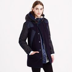 J.Crew - Burbridge mixed-media parka- Have to have. Love but  ouch $695. Maybe I'll find it on Ebay.
