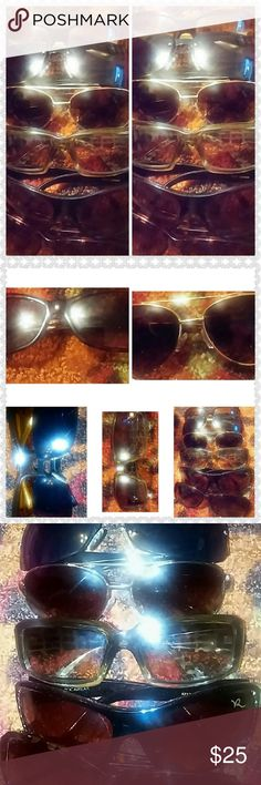 Sunglass bundle DKNY, Kenneth Cole,roca wear,daisy fuentes, some have scratches Accessories Sunglasses